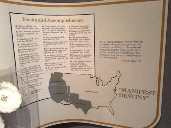 President James K. Polk Home & Museum: President Polk's Major Accomplishments