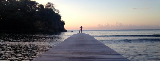 The Resort at Wilks Bay: Sunset on the dock