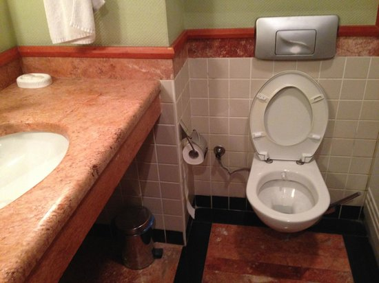 hotel tori bagno senza bidet e malconcio