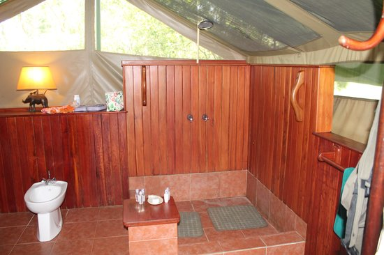 Little Governors' Camp: Bathroom in Tent