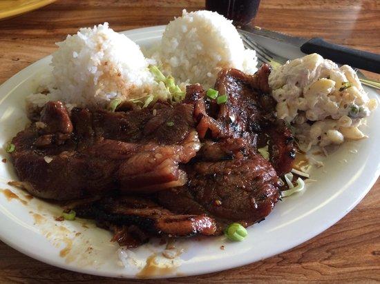 Hawaiian Style Cafe: Korean Beef plate