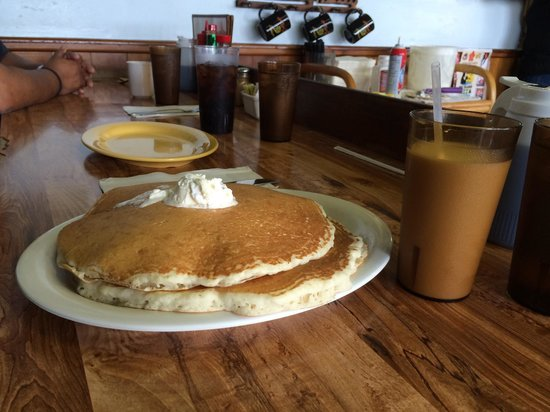 "Hawaiian Style Cafe: ""Side"" order of pancakes :)"