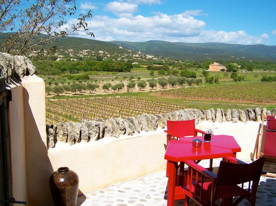 Domaine des Andeols : Our private patio views!