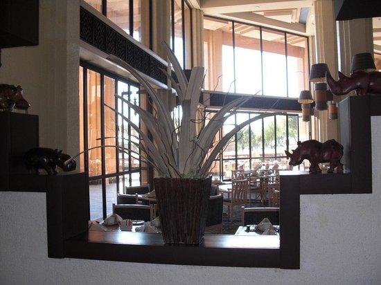 Visão parcial do restaurante buffet no Windhoek Country Club Resort-Namíbia