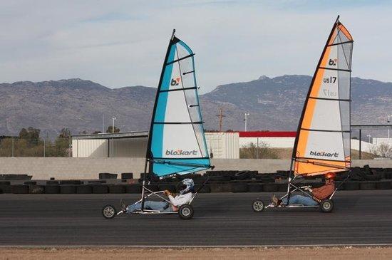 P1 Kart Circuit : Our blokart sailing school in action