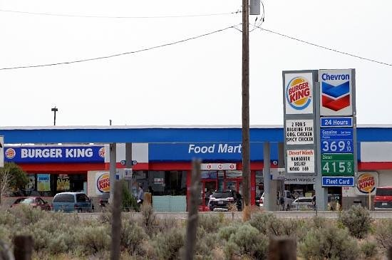 Mountain Home, ID: Desert Winds Chevron and Burger King near Exit 90