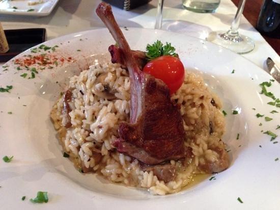 Francis Restaurant: Lamb and Mushroom Risotto