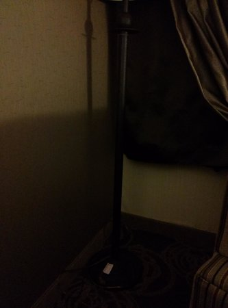 DoubleTree by Hilton Hotel Mahwah: Lamp in the corner that cannot be turned out because there is no outlet.