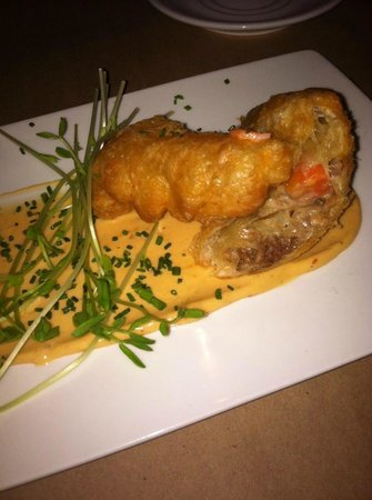 Terre a Terre: Braised short rib empanadas with root veggies, bechemel in a puff pastry