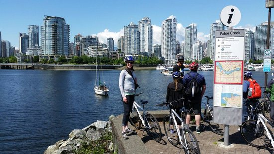 Cycle City Tours and Bike Rentals: Overlooking false creek.