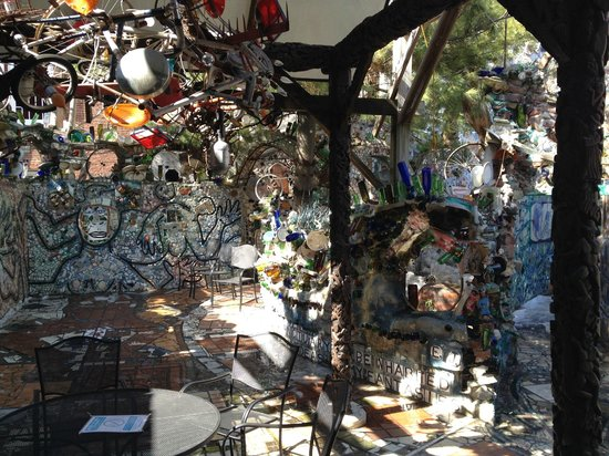 Philadelphia's Magic Gardens: Portion of the garden we could not enter due to snow