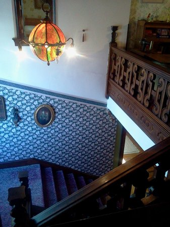 Solomon Mier Manor : Main staircase from the little window in our room.