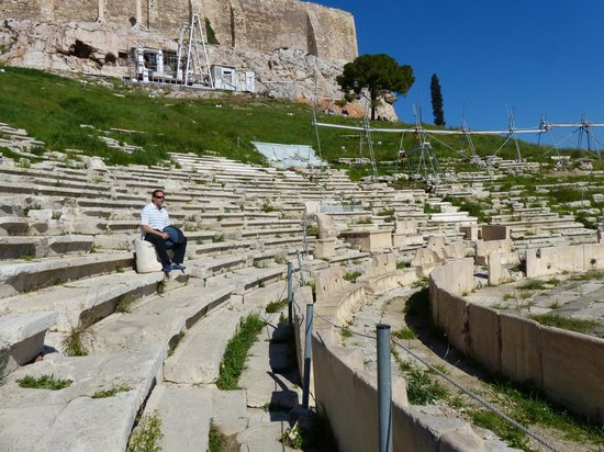 Theater of Dionysus: Algunas de las butacas para dignatarios