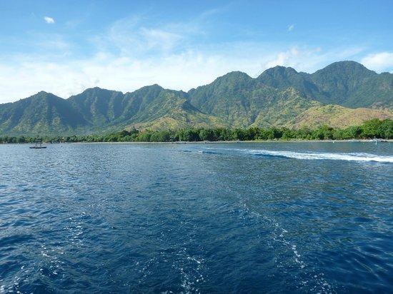 Amertha Bali Villas : MOUNTAINS BEHIND PEMUTERAN