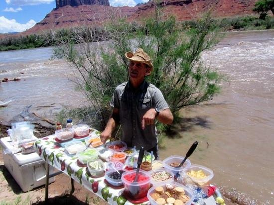 Canyon Voyages Adventure Co - Day Tours: our guide, Arnie, was explaining our lunch options.