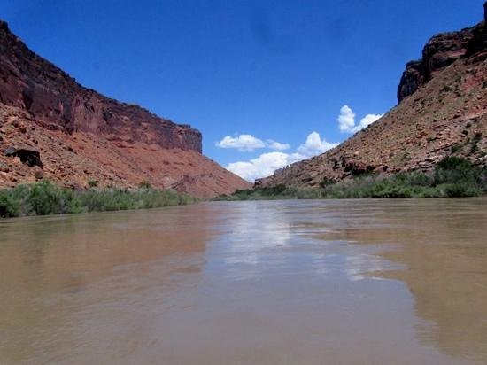 Canyon Voyages Adventure Co - Day Tours: view looking north on the Colorado River.
