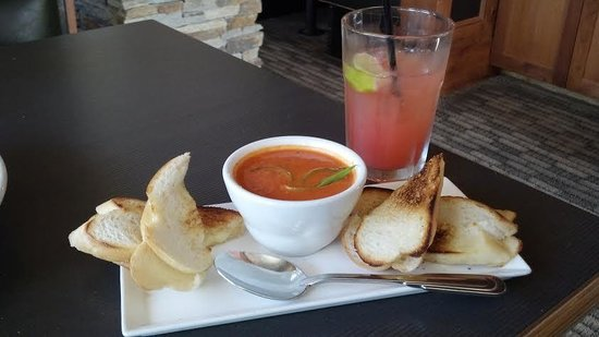 Tavern on the Gore: Tomato Soup and Grilled Cheese > Ultimate comfort food, neat presentation!