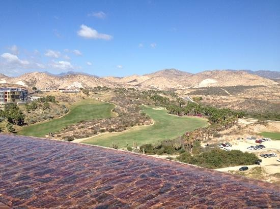 Westin Resort & Spa Los Cabos: view of the golf course from the timeshare restaurant