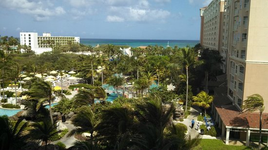 Marriott's Aruba Surf Club : View from our balcony in the Spyglass Tower.