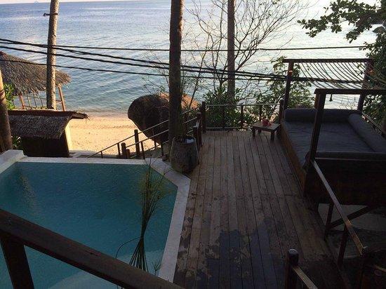 Japamala Resort by Samadhi: our own private pool @ Penghulu