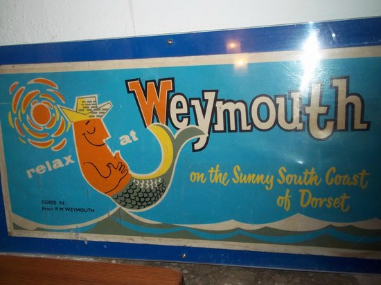 The Blue Fish: the aunt,mum and wife are and old known Weymouth family loved this poster