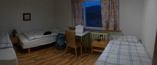 Hafnarnes: our room