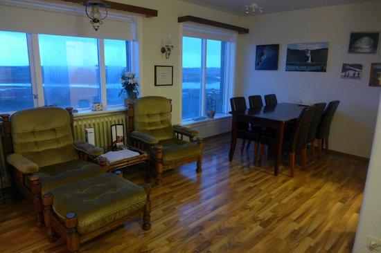 Hafnarnes: living room