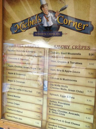 Michel's Corner Crepes: Sweet Crepes and Savory Crepes
