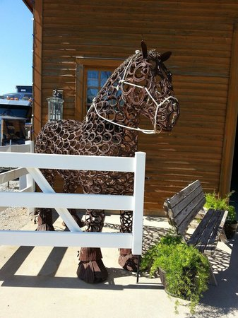 Express Clydesdales: Clydesdale made from horseshoes