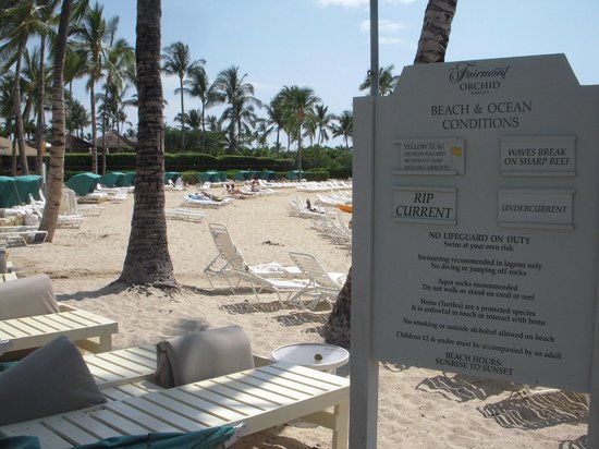 Fairmont Orchid, Hawaii : ホテル前のビーチです。