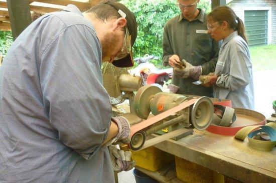 Barrytown Knifemaking: Sanding the blade