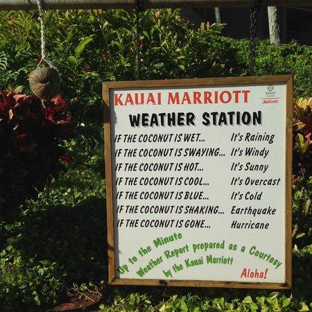 Kaua'i Marriott Resort: Weather Station