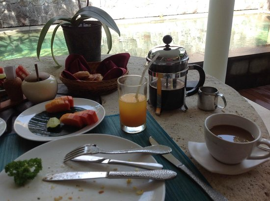 The Purist Villas and Spa: Breakfast