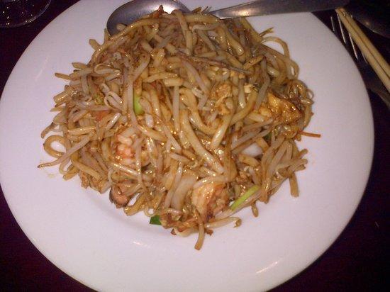 Le Kampotois : Pâtes de riz sautées aux crevettes