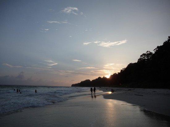 Sun set at Radhanagar Beach