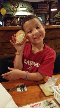 Lambert's Cafe III: Elijah caught a roll!