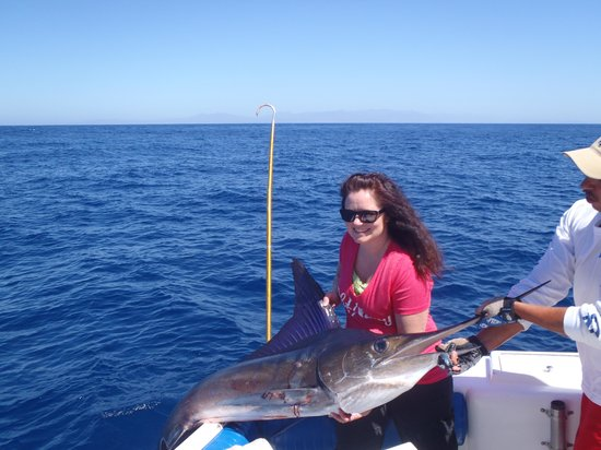 Catch flags picture of fish on private charters cabo for Cabo san lucas fishing season