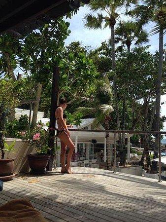 Re Ka Ta Beach Club: Вид с террасы СПА