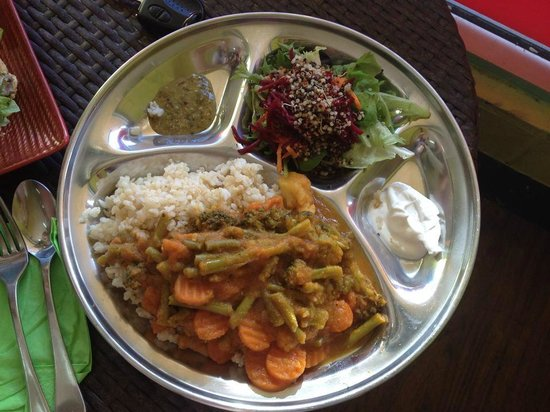 Keen on Green : Vegan curry plate - yum!