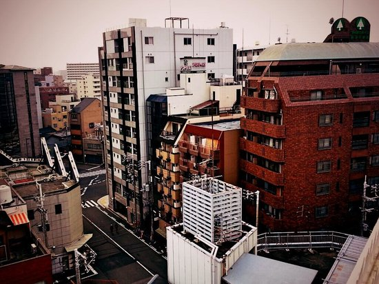 Weekly Green Inn Nanba : view from my bedroom balcony
