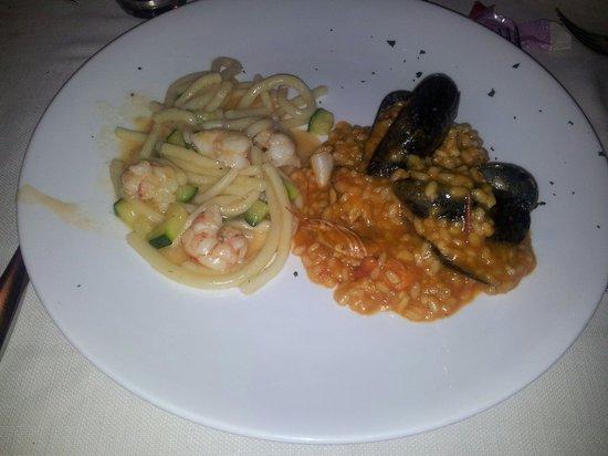 Ristorante Pizzeria Corte Degli Sforza: I primi del menù: eccezzionali sia gli strozzspreti che il risotto, non banale nei sapori