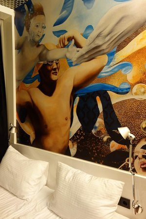 Bohem Art Hotel : Every room have different artwork.
