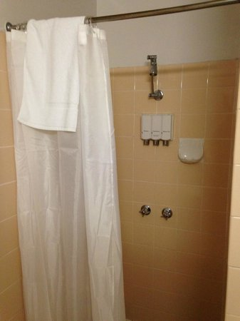 Hotel Launceston: shower