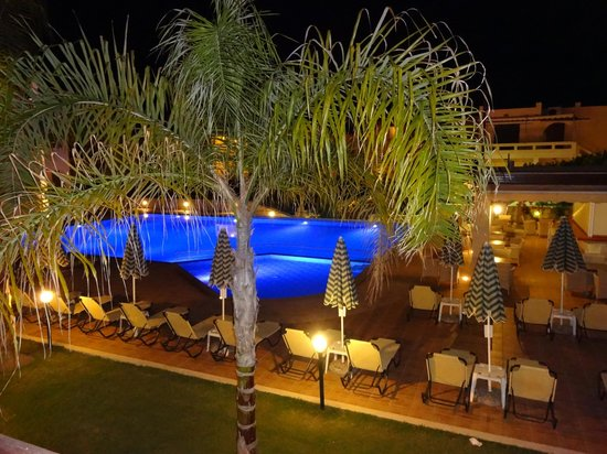 Creta Palm: Our room view at night!