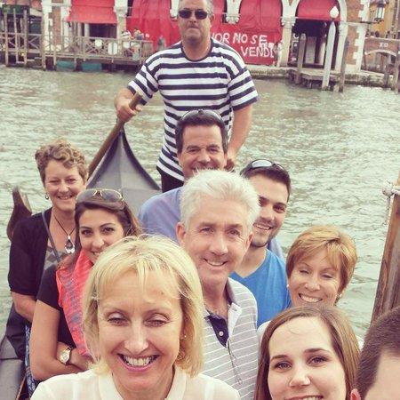 Venice Urban Adventures : Tons of fun crossing with the traghetto gondola on tour!
