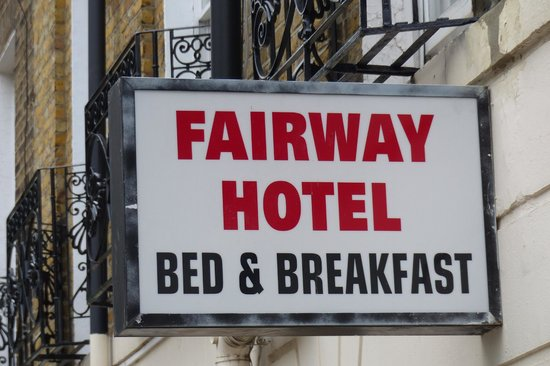 Fairway Hotel sign