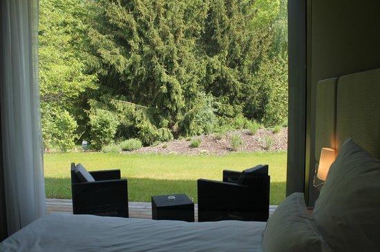 La Source des Sens : terrasse privative chambre nature