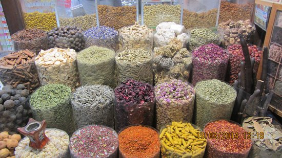 Bur Dubai Abra Dock : Spices in Old Souk.