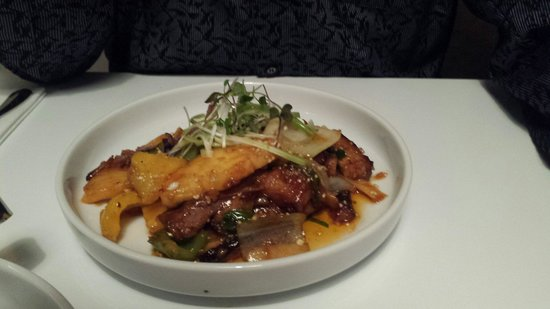 Malabar Restaurant: Spiced pork belly...melts in your mouth.