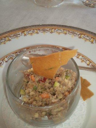 La Bonne Etape: Brunoise de légumes et rillette de sardines